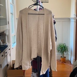 Brandy Melville *no tag* cream knit open cardigan